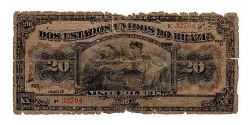 cédula brasil tesouro nacional 20 mil réis 13ª estampa r116