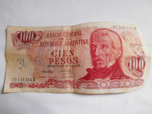 cedula cien pesos argentino