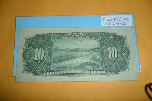 cédula de 10 dez mil réis mbc/soberba r110d/1942.