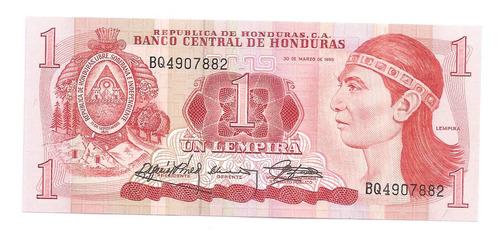 cedula estrangeira - honduras 1 lempira de 1989 - fe