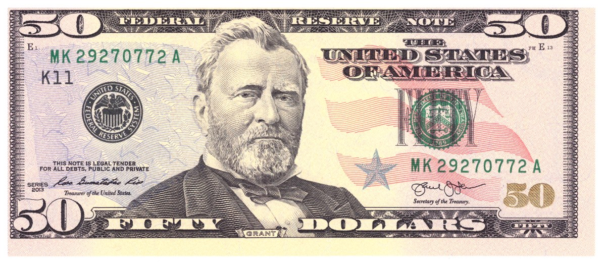 Resultado de imagem para nota de 50 dólares