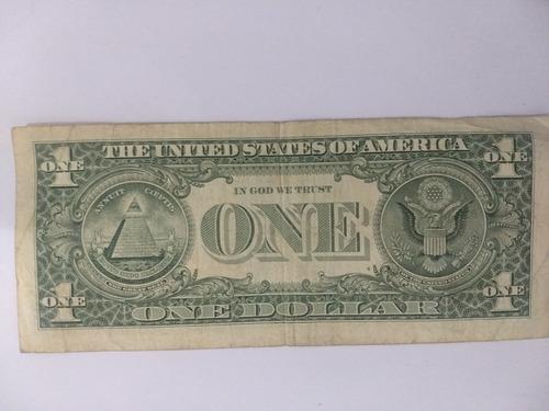 cédula one dollar 1 dólar americano  prosperidade sorte