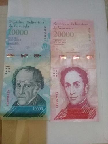 cedulas 10000 e 20000 bolivares