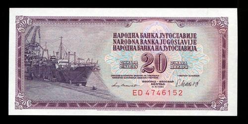 cédulas da iugoslávia- flor de estampa- remessa grátis l.478