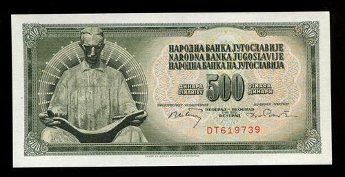 cédulas da iugoslávia- flor de estampa- remessa grátis l.481