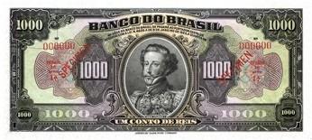 cédulas reis república brasil