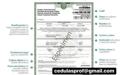 cédulla verificable profesional registrada