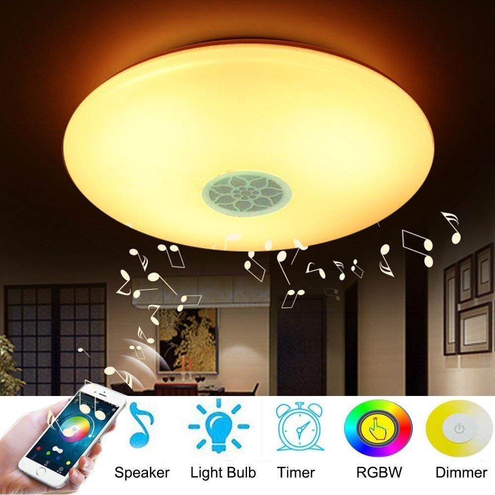 Ceiling Lamp With Bluetooth Speaker Smart App Control