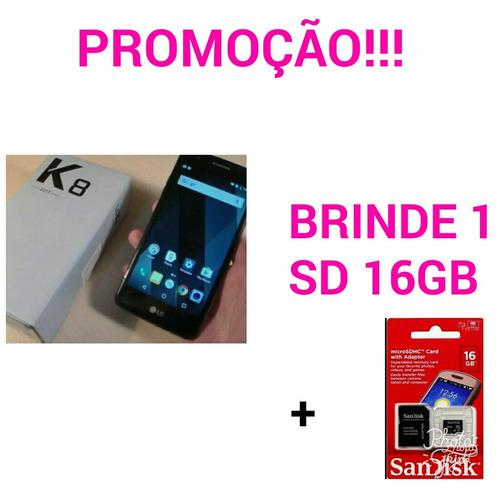 cel k8 2017 k240 4g 16gb preto + 1 sd 16gb gratis