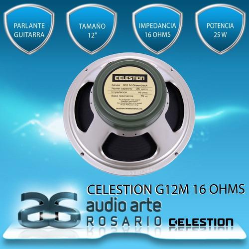 celestion g12m greemback 16 ohms 25w!