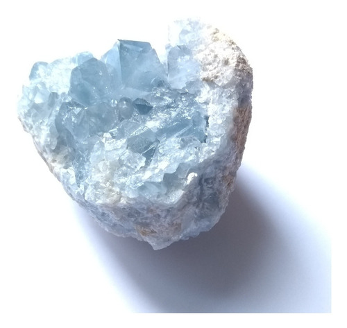 celestita natural cristalizada en matriz de madagascar 153g