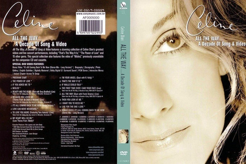 celine all the way a decade of song & video dvd lacrado