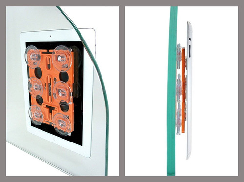 cellfy tablet mount w / desmontable kickstand + envio gratis