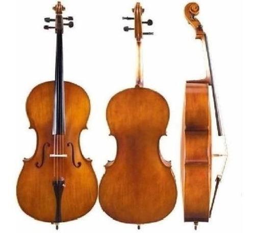 cello violonchelo custom 1/4 parquer+funda+arco+resina ce925
