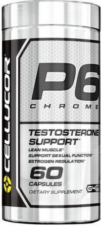 cellucor p6 chrome suporte a testosterona 60 caps