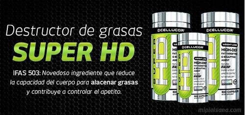 cellucor super hd 60 capsulas g4 quemador de grasa original