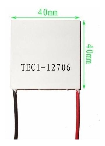 celula o celda termoelectrica de peltier 12706 12v 6a tec1