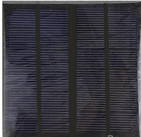 célula painel placa energia solar fotovoltaica 6v 500mah 3w