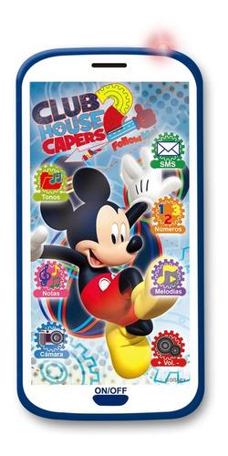 celular 3d juguete mickey club house luces sonidos ditoys