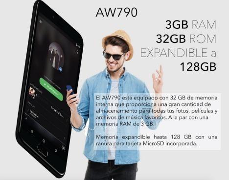 celular aiwa aw790 5.2 huella 3gb 32gb 16 mpx wifi 4g rojo