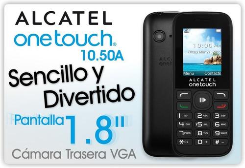 celular alcatel 1050 prepago claro + chip entel