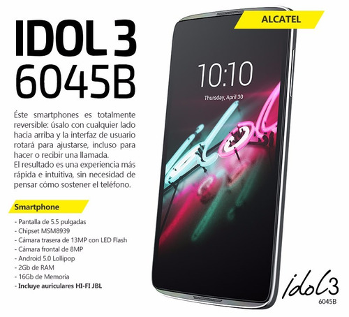 celular alcatel idol