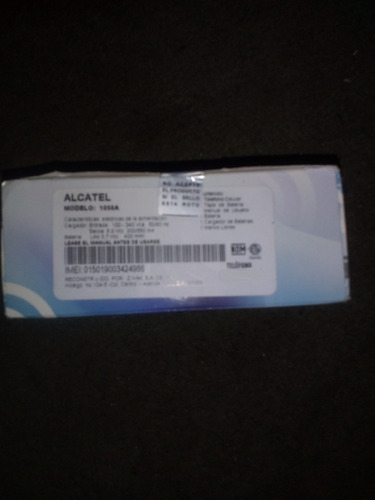 Celular Alcatel One Touch 1050a  Telcel