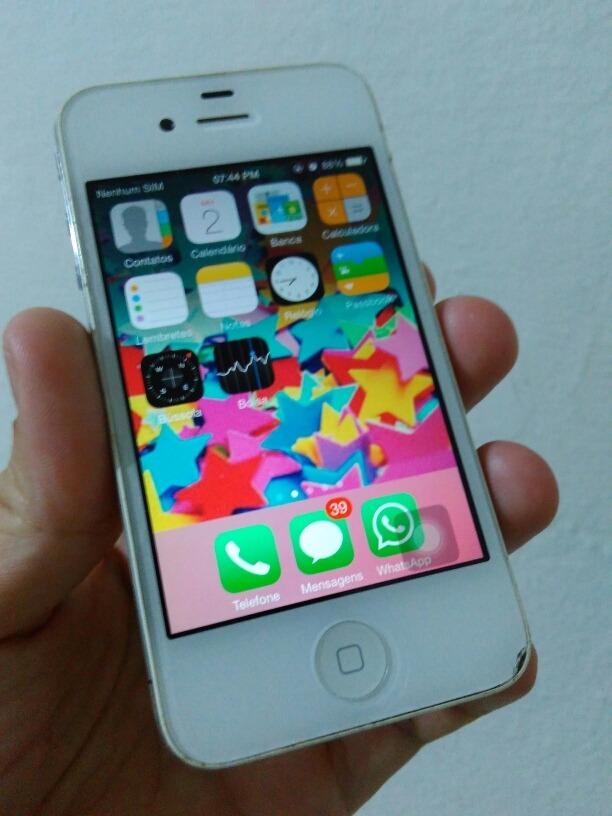 2b5a727a8a0 celular apple iphone 4 a1332 funcionando bco pronta entrega. Carregando  zoom.