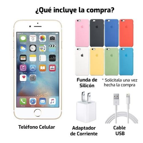 celular apple iphone 6s 64gb + funda silicon