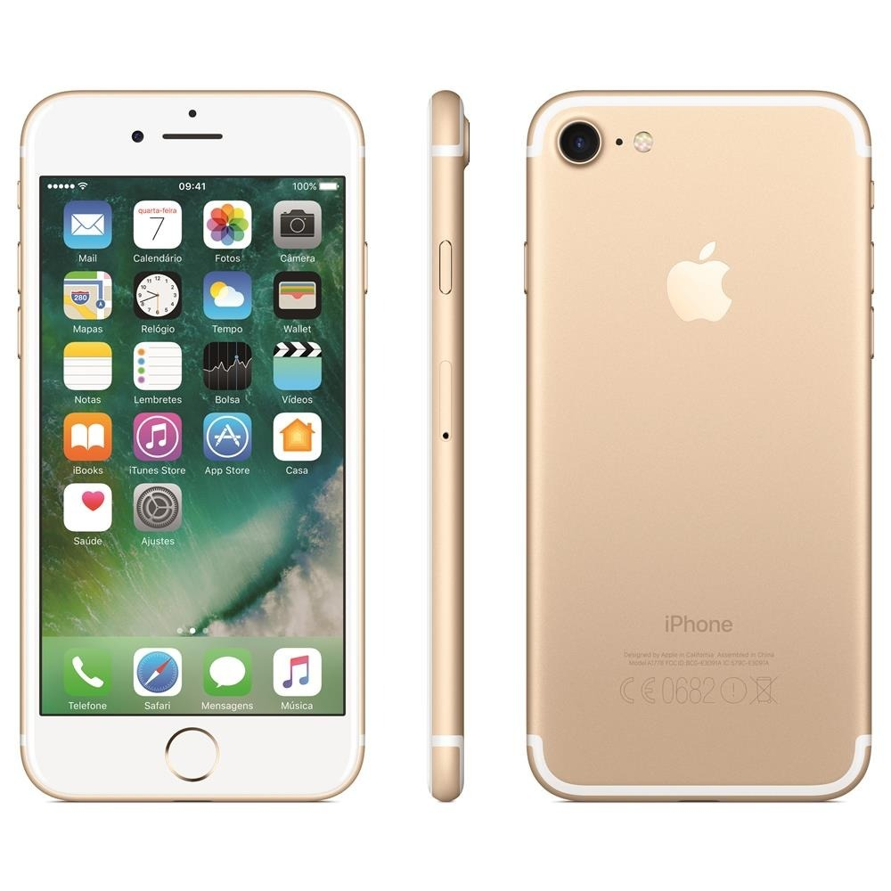 92ac14515 celular apple iphone 7 32gb vitrine + brinde + nota fiscal. Carregando zoom.