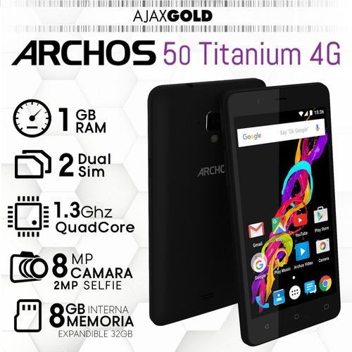 celular archos 50 titanium 4g lte android 1gb gps flash hd
