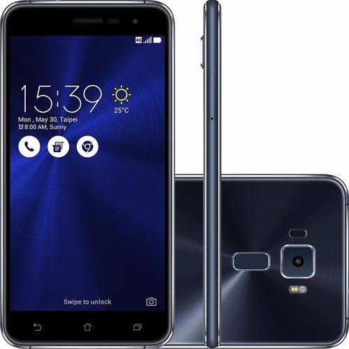 celular asus zenfone 3 ze520kl dual 64gb 4g 5.2'' preto