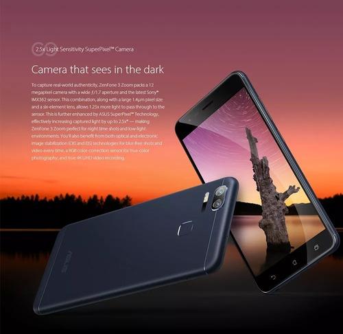 celular asus zenfone 3 zoom ze553kl 64gb lacrado global + nf