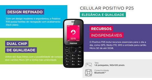 celular barato positivo p25 dual sim 1 8 câmera r 120 00 em