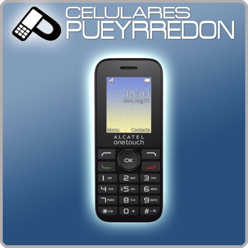 celular básico alcatel 1050 libre  linterna y teclas grandes