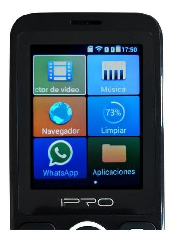 celular basico sencillo whatsapp 3g ipro smart 2.4