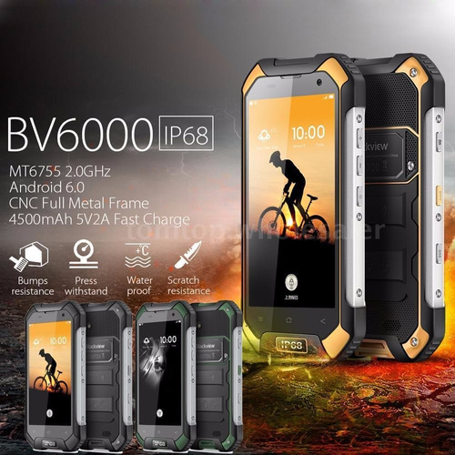 celular blackview ip68 bv6000 anti explosivo y es sumergible