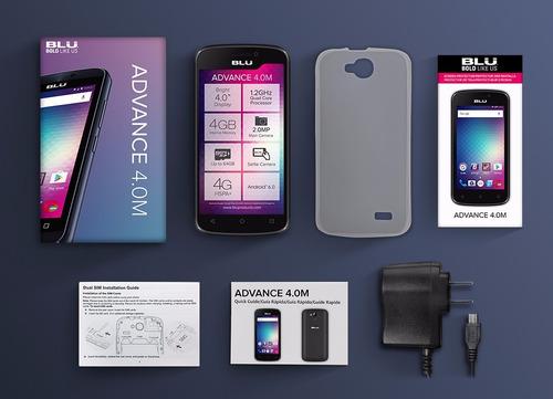 celular blu advance táctil 4  cámara android gps dual core