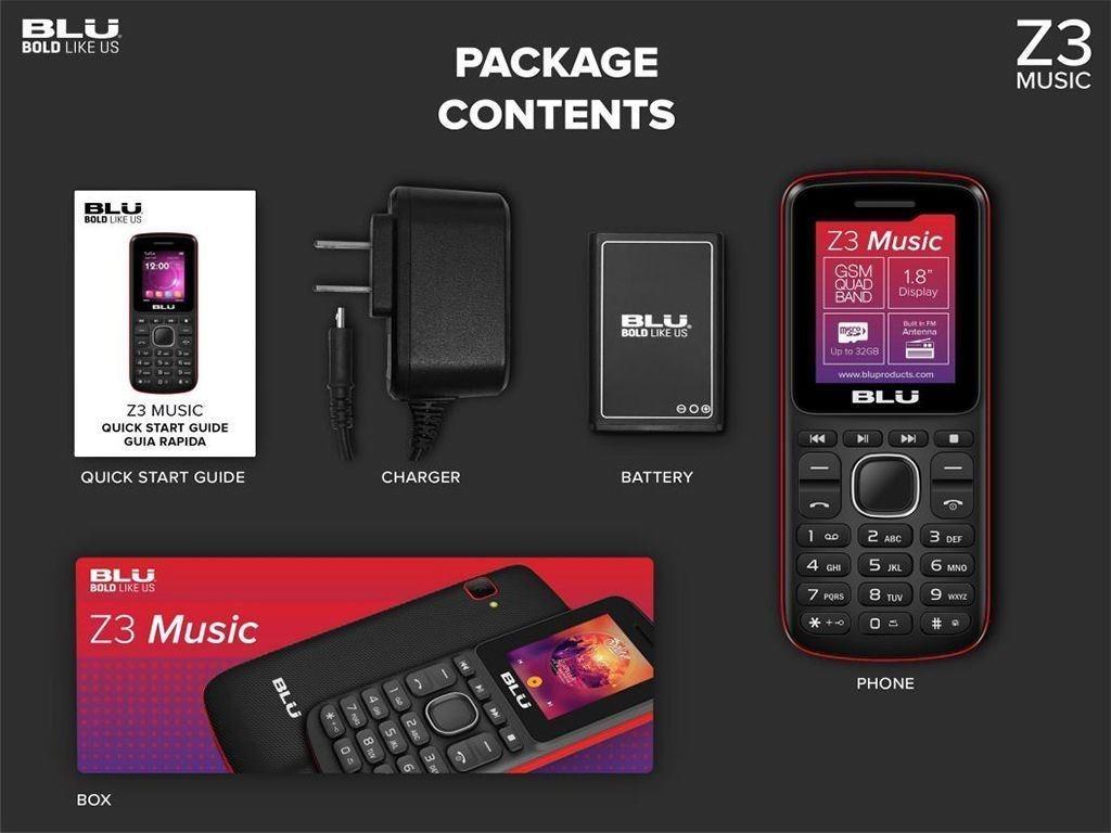 Celular Blu Camara Radio Teclado Grande Nuevo Z3 Mp3 Libre
