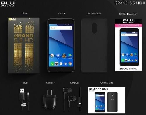 celular blu grand 5.5 hd g210q -16gb 3g 5.5 - dourado/ preto
