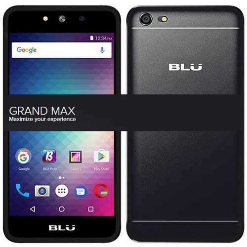 celular blu grand max 8gb tela 5 1gb aluminium