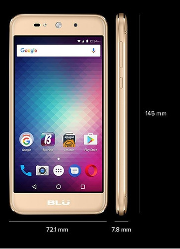 celular blu grand max pantalla 5  dual sim  funda regalo!