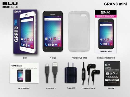 celular blu grand mini g172q-4.5 dual-sim-8gb - rosa