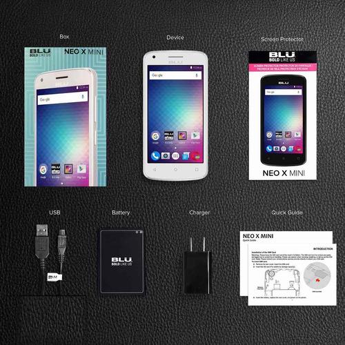 celular blu neo x mini quad core 5 mpx cámara pant 4.5 doble