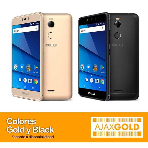 celular blu r2 4g lte 5.2'' curve hd libre + funda + film