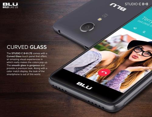 celular blu studio j5 lte 4g libre hd android + film + funda