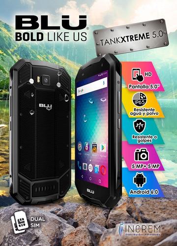 celular blu tank extreme 5 uso rudo resistente al agua