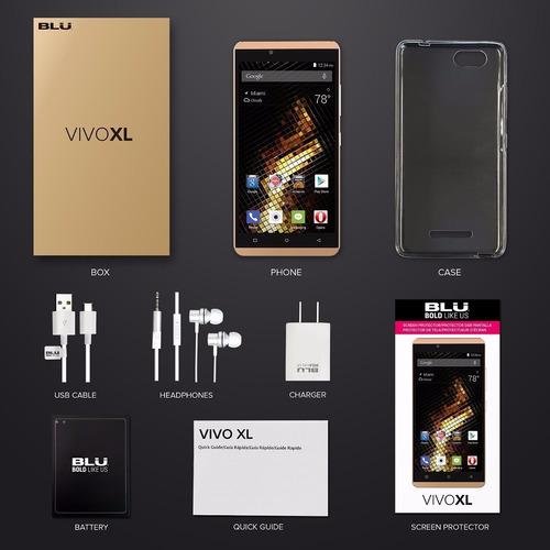 celular blu vivo xl pantalla 5.5  octacore! 2g de ram! dual