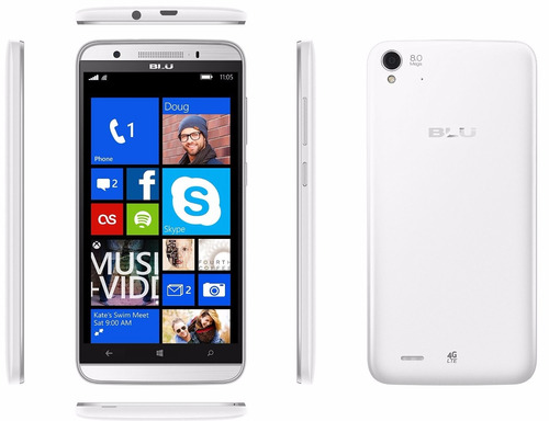 celular blu win hd  5.0  8gb blanco  libre de fabrica