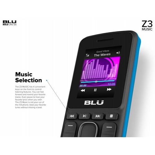 celular blu z3 2g dual chip teclado grande p/ idosos music